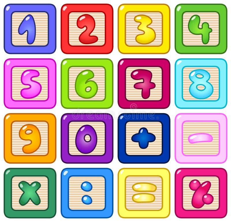 blok liczba ilustracji