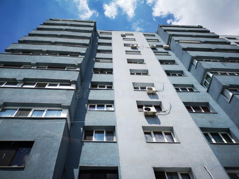 Blok mieszkalny od Wschodniego Europa obrazy royalty free