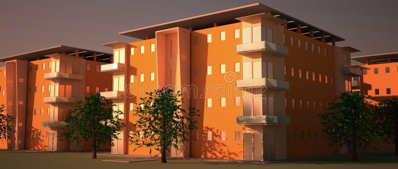 blok mieszkaniowy ilustracja wektor