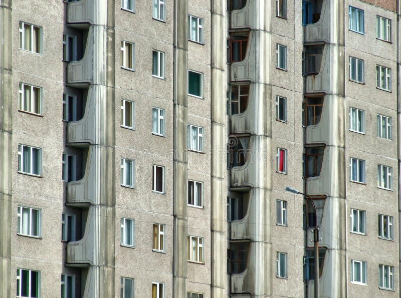 blok mieszkaniowy ponury Rosji obraz stock