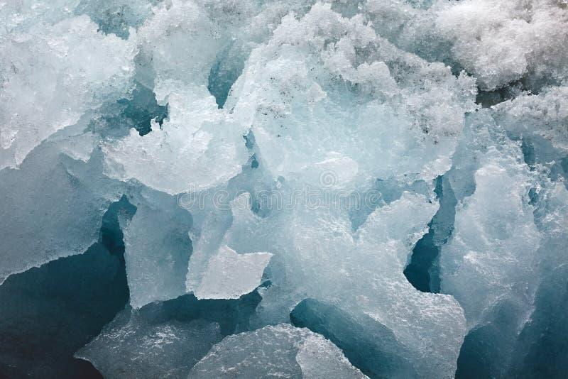 Blok van gletsjerijs royalty-vrije stock afbeelding