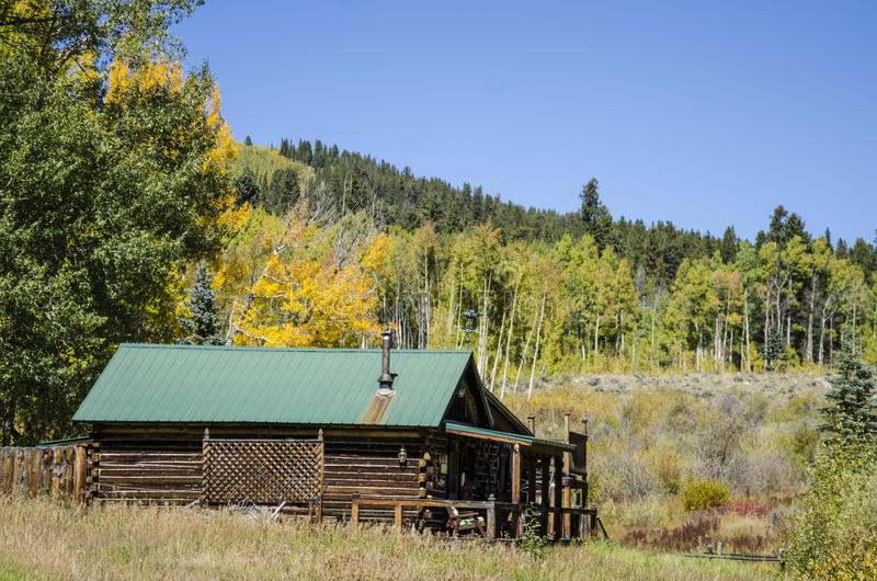 Blokhuis in Colorado stock foto