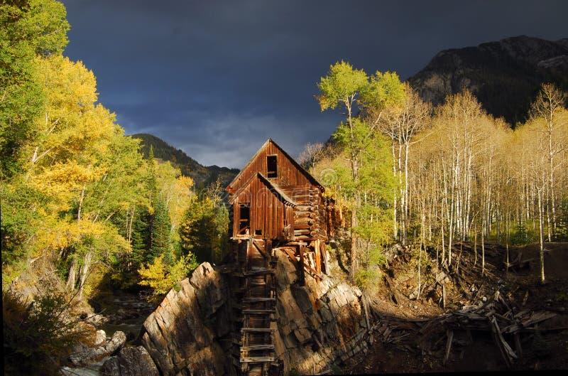 Blokhuis in hout stock afbeeldingen