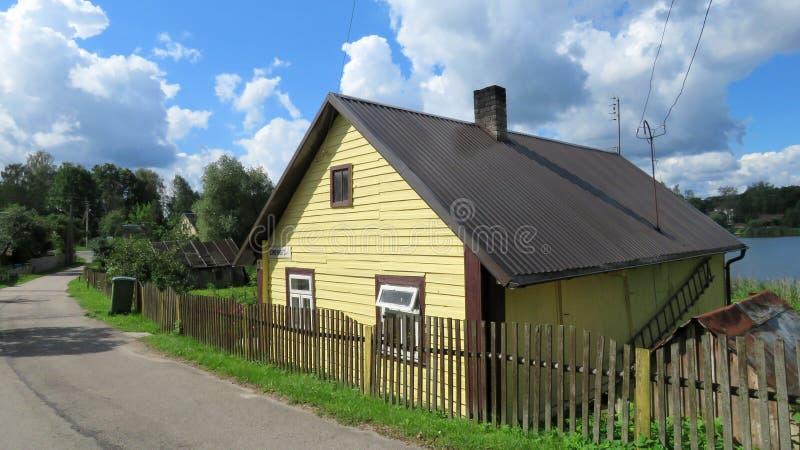 Blokhuis in Litouwen stock afbeeldingen