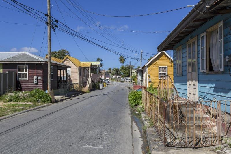 Blokhuizen in Barbados royalty-vrije stock foto
