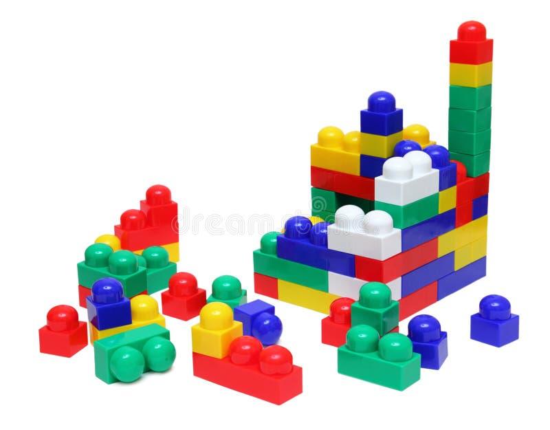 bloki mieścą meccano zabawkę fotografia royalty free