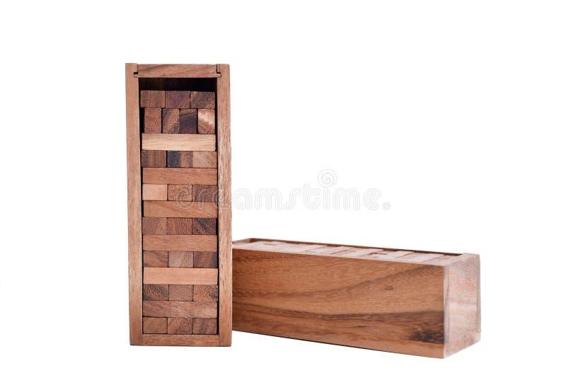 Bloki odizolowywający na białym tle drewno obrazy stock