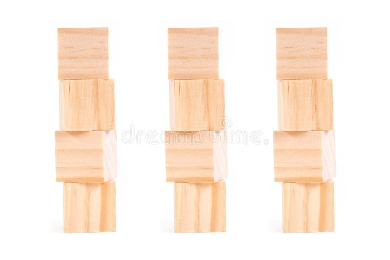 Bloki odizolowywaj?cy na bia?ym tle drewno Strategia jako plan biznesowy dla drużynowej pracy obrazy stock
