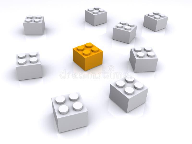 bloki target2655_1_ klingeryt zabawkę ilustracja wektor