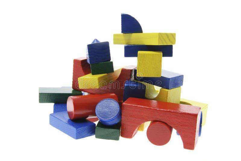 bloki target895_1_ stertę drewnianą zdjęcie stock