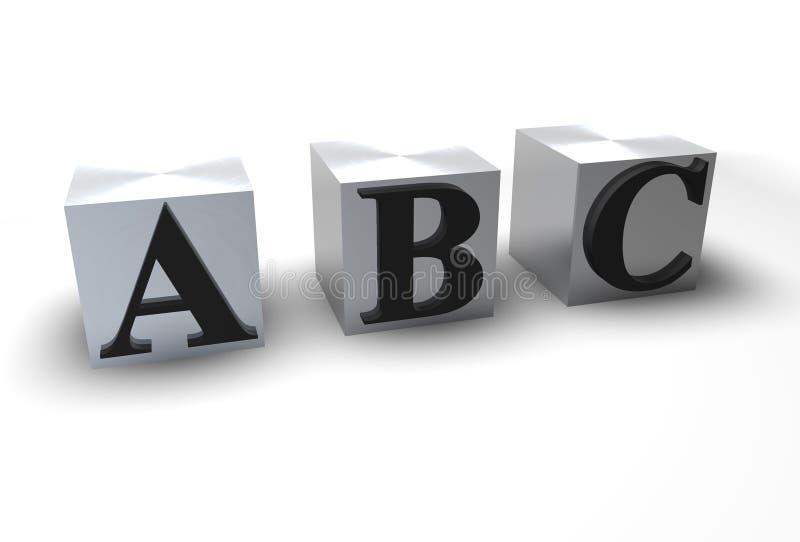 Blokken ABC royalty-vrije illustratie