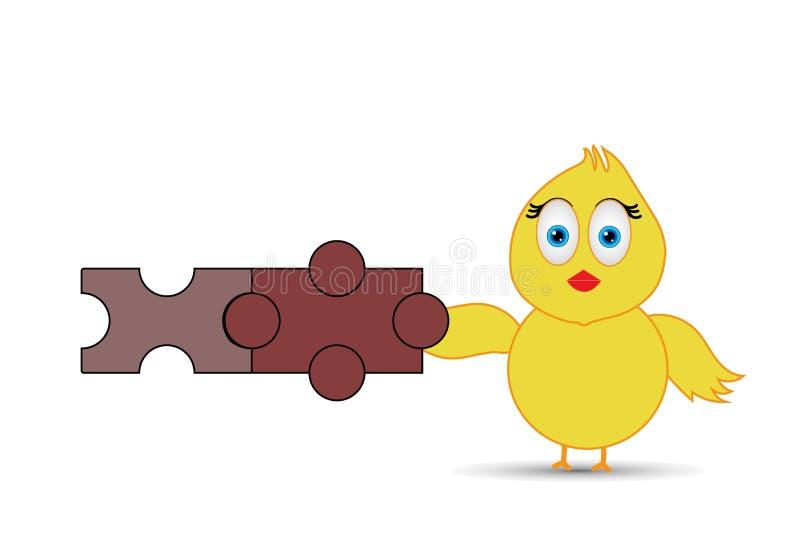 Blokken of speelgoed met kuiken vector illustratie