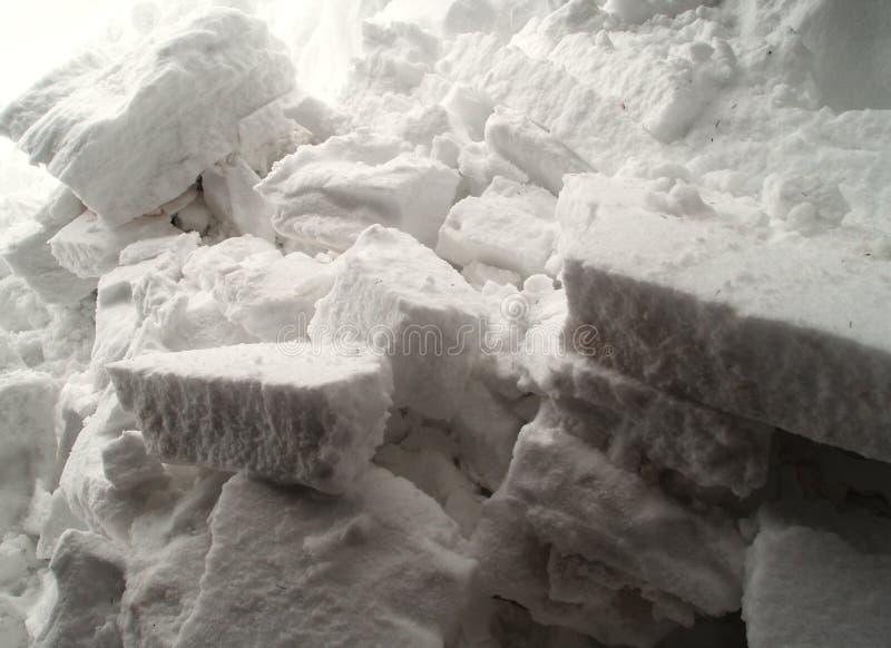 Blokken van sneeuw stock fotografie