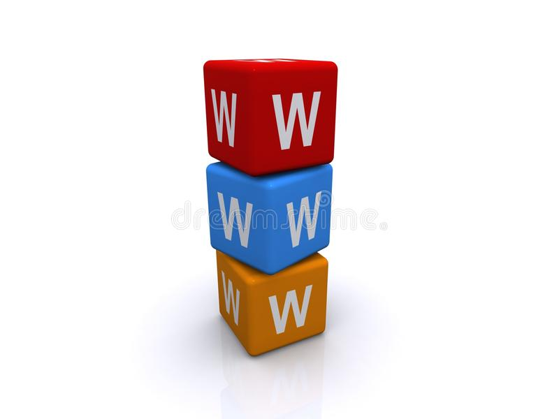 Blokken WWW royalty-vrije illustratie