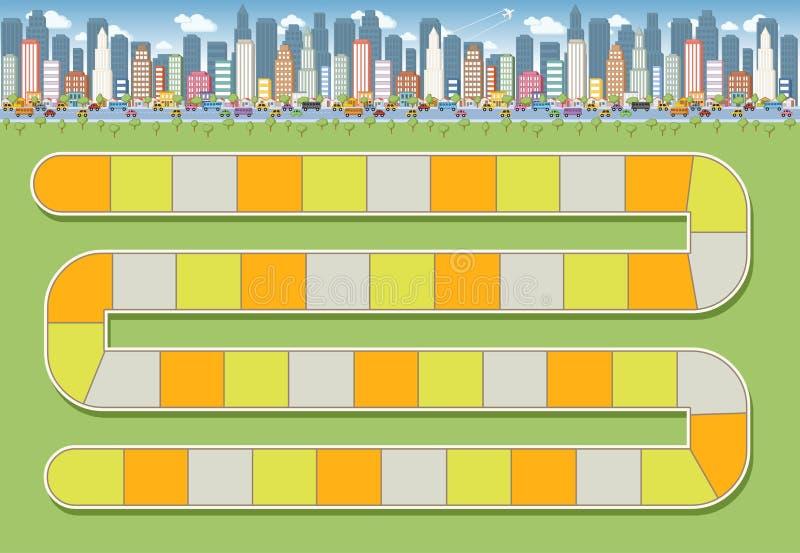 Blokowa ścieżka w mieście ilustracja wektor