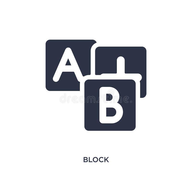 blokowa ikona na białym tle Prosta element ilustracja od dzieciaków i dziecka pojęcia royalty ilustracja