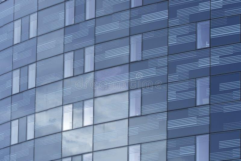 blokowa szklana wysokiego urzędu wzrosta ściana obrazy royalty free