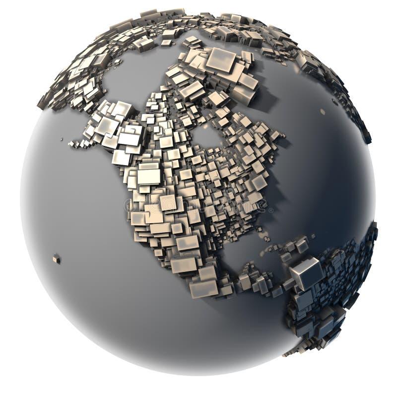 blokowa ziemskiego metalu struktura royalty ilustracja