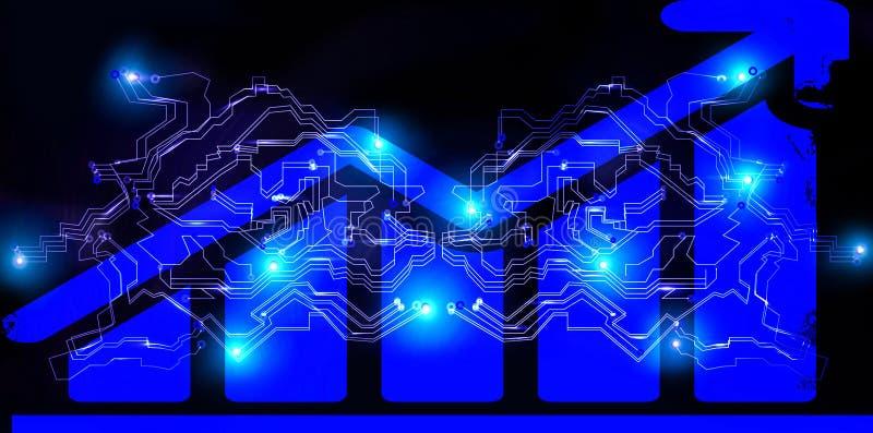 Blokowego łańcuchu networking Cryptocurrency bitcoin handlarski diagram Globalnego cyber futurystyczna pieniężna sieć pieniądze w zdjęcie royalty free