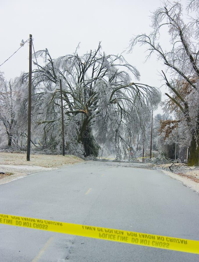 blokowego lodu drogowa burza zdjęcia royalty free