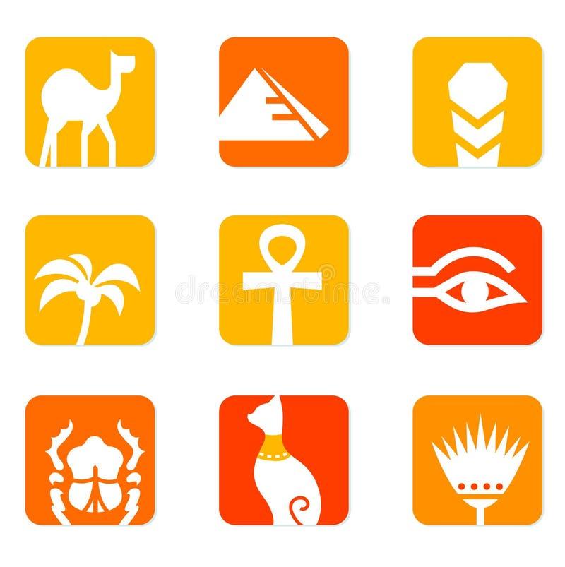 blokowego projekta Egypt elementów ikony ilustracja wektor