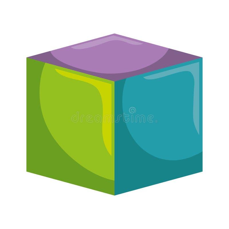 Blokowego zabawkarskiego dzieciaka odosobniona ikona ilustracja wektor