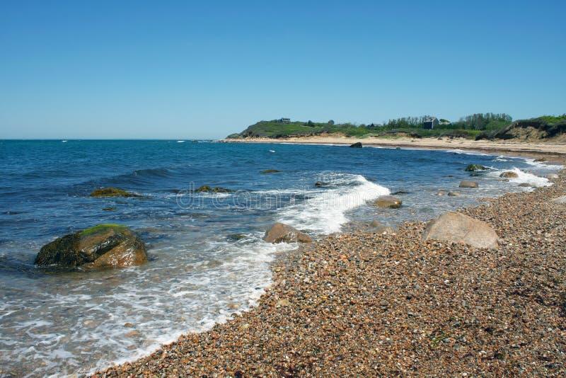 Blokowej wyspy plaży linia brzegowa obrazy stock