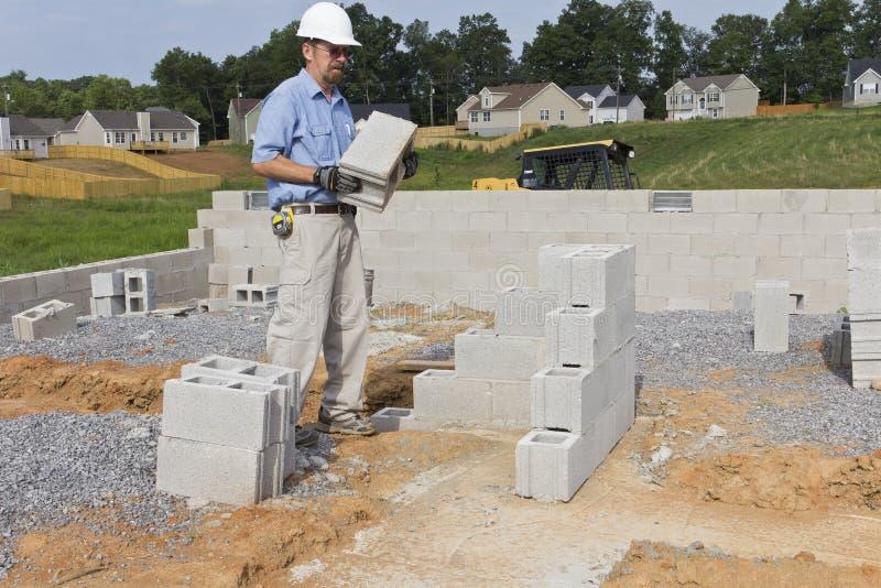 blokowy betonowy kamieniarz zdjęcia stock