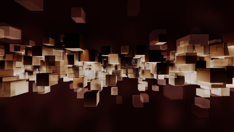 Blokowy cząsteczki światło, zmrok i świadczenia 3 d royalty ilustracja