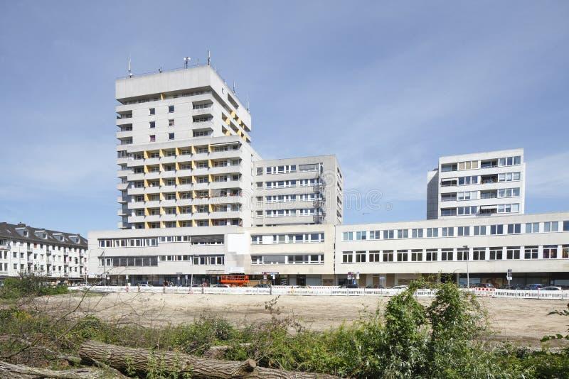 blokowy mieszkań vertical widok zdjęcie stock