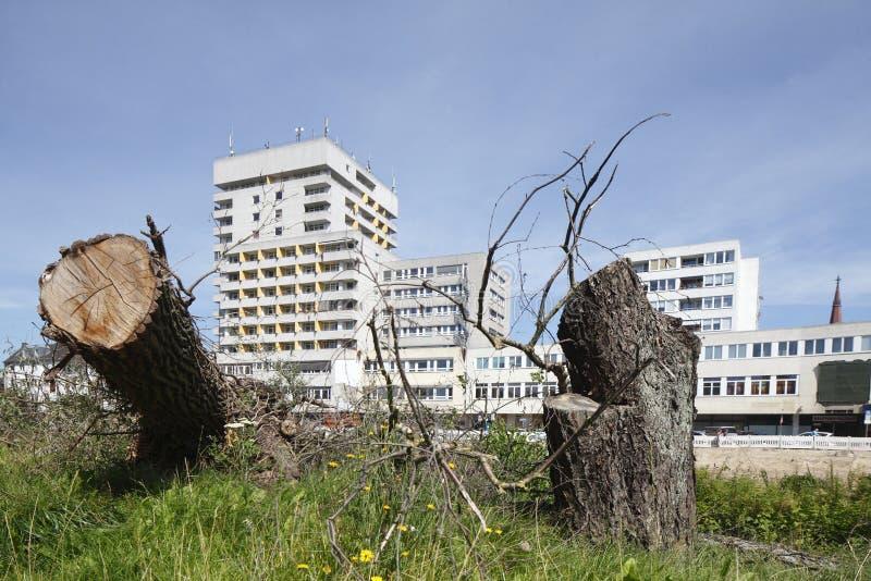 blokowy mieszkań vertical widok fotografia stock