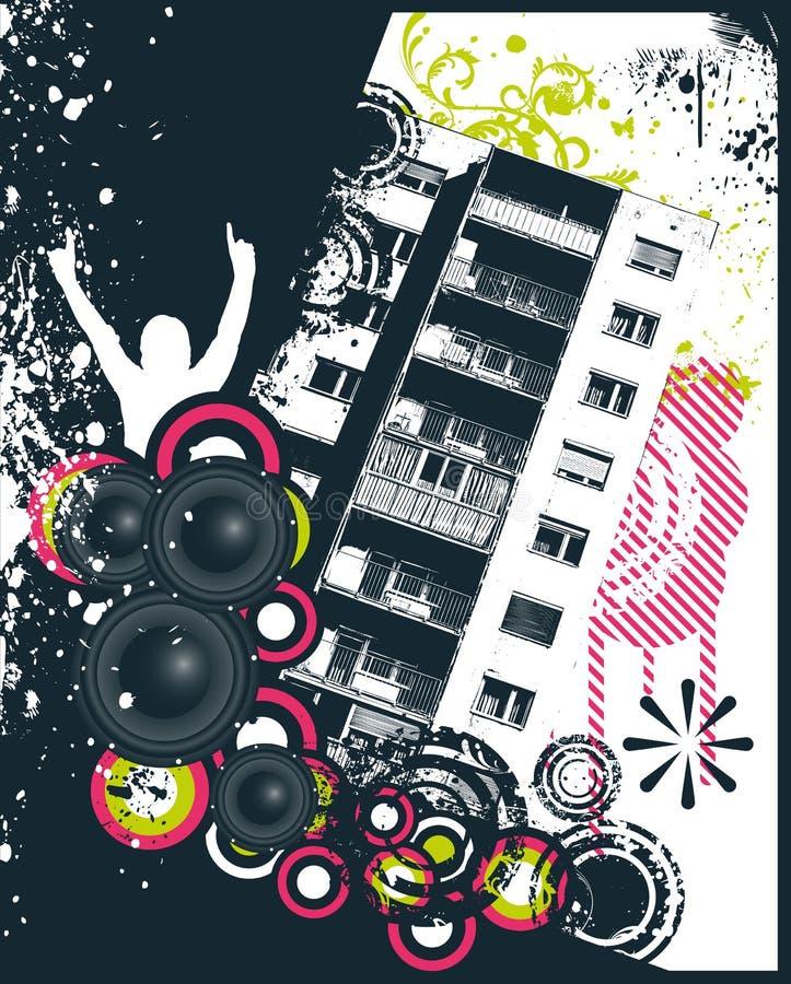 blokowy wysoki muzyczny wzrost ilustracja wektor