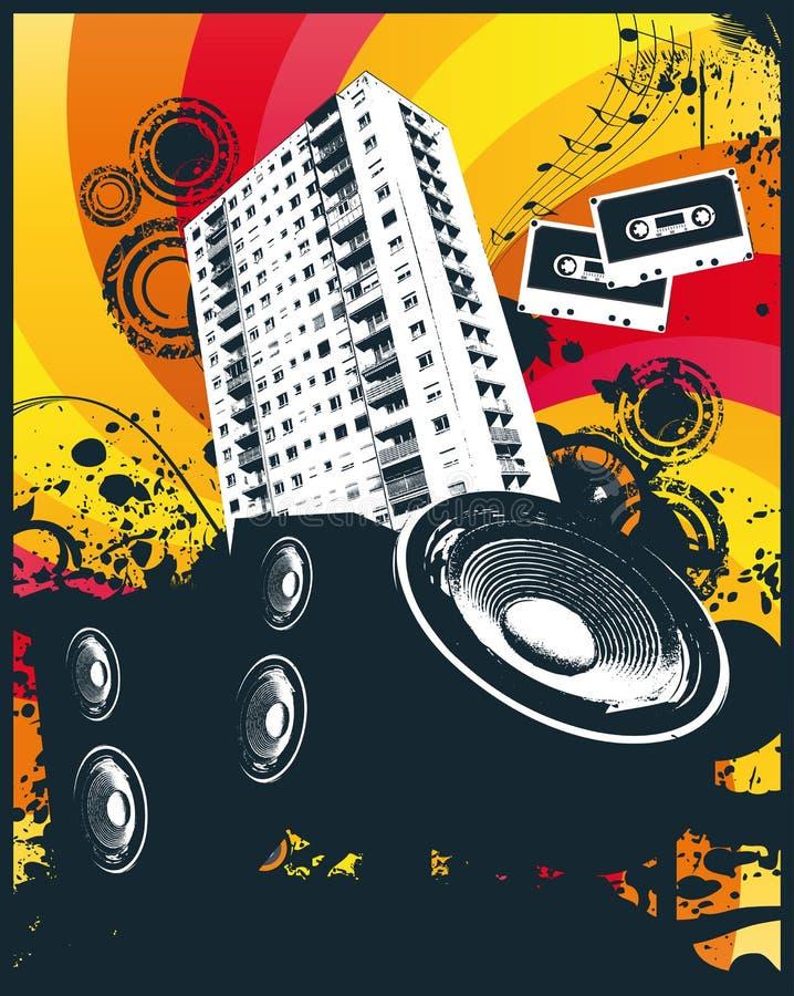blokowy wysoki muzyczny wzrost royalty ilustracja