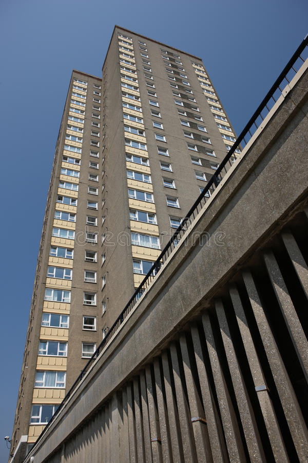 blokowych mieszkań wysoki wzrost fotografia royalty free