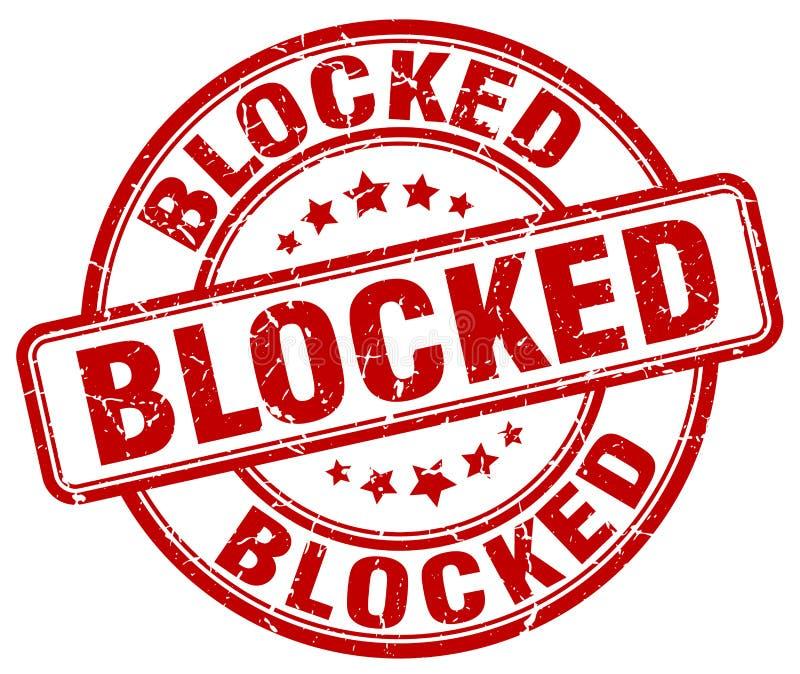 blokujący czerwień znaczek royalty ilustracja