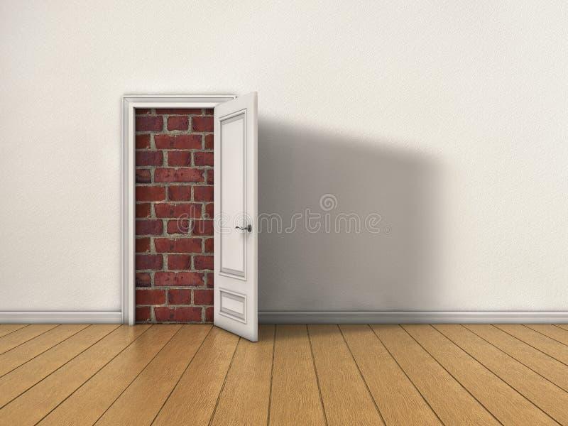 Blokujący drzwi ilustracja wektor