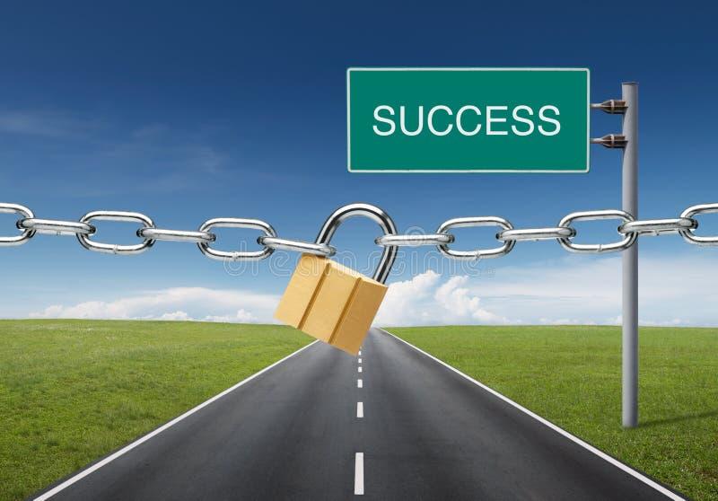 blokujący sukces obraz stock