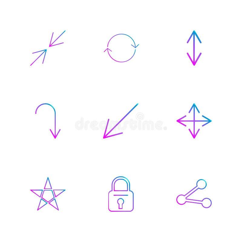 blokuje, gra główna rolę, dzieli, strzała, kierunki, avatar, ściąganie, u ilustracja wektor