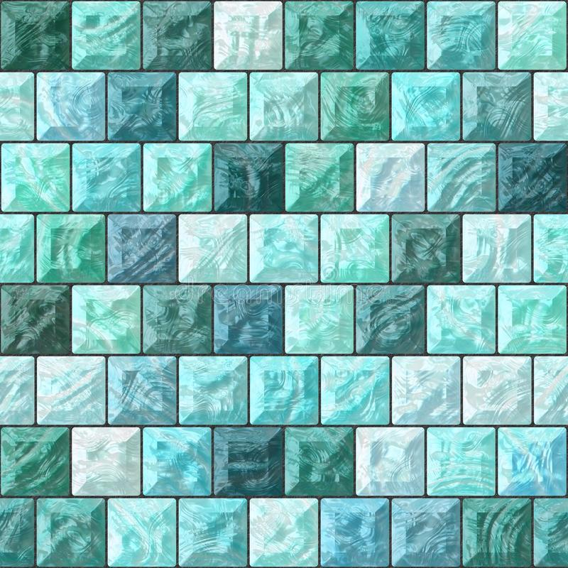 blokuje koloru błękitny szkło royalty ilustracja