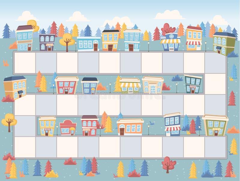 Blokweg op de stad royalty-vrije illustratie