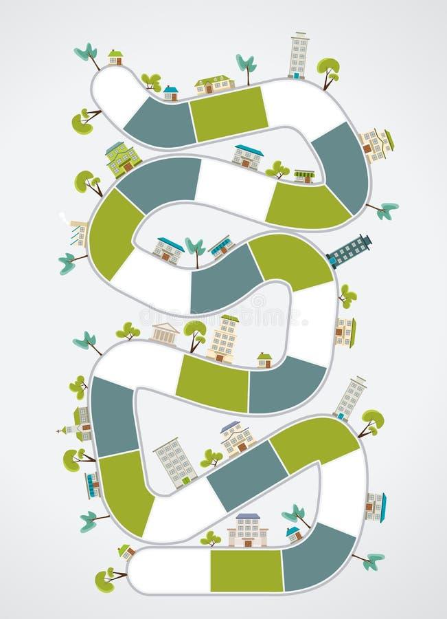 Blokweg op de stad vector illustratie