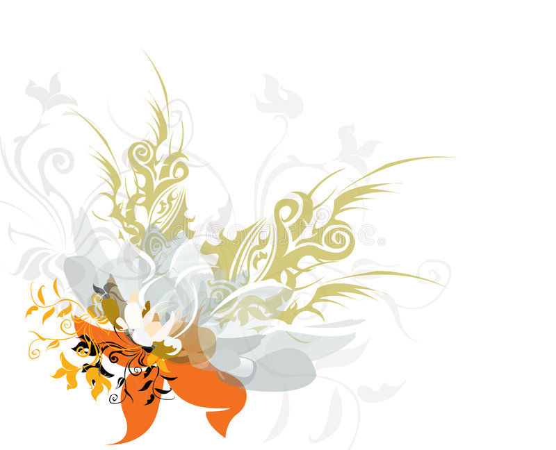 blom royaltyfri illustrationer