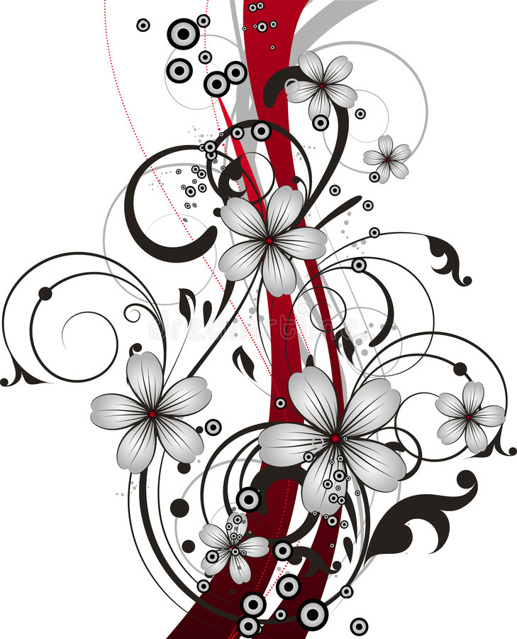 blom- abstrakt bakgrund stock illustrationer