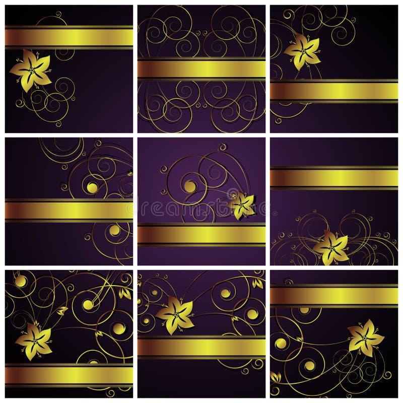 blom- abstrakt bakgrunder stock illustrationer