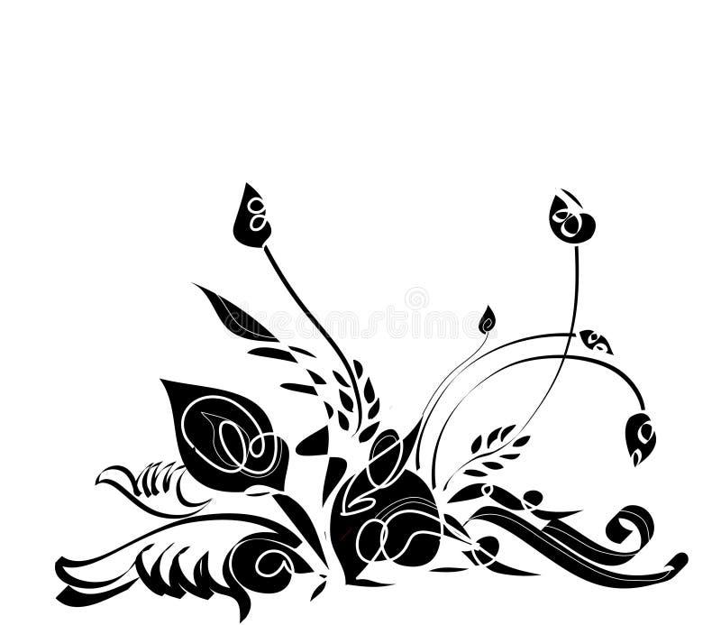 blom- abstrakt design royaltyfri illustrationer