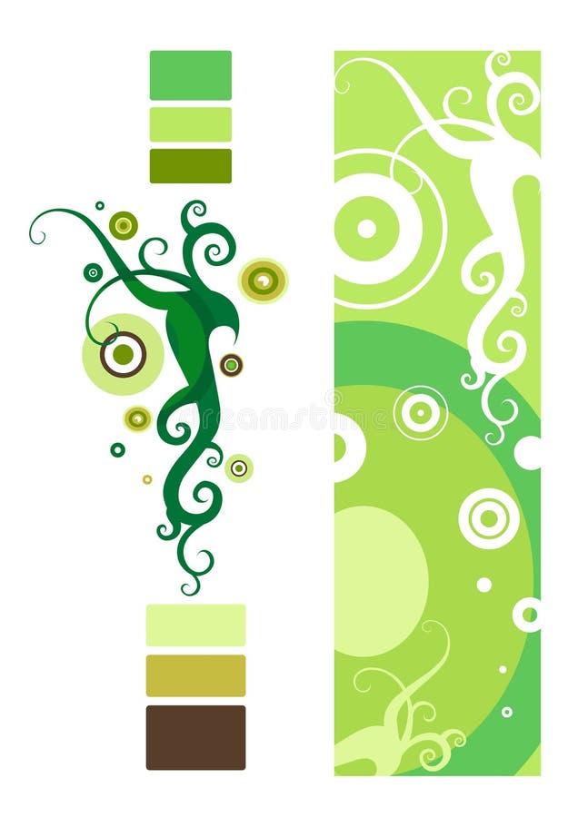 blom- abstrakt garnering stock illustrationer