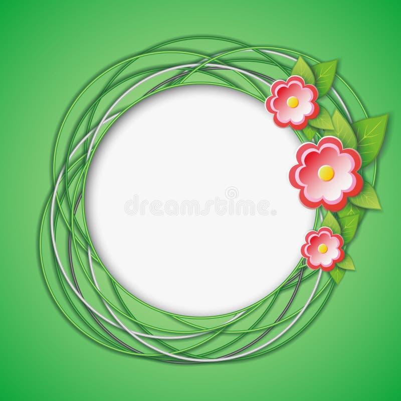 Blom- abstrakt idérik bakgrund royaltyfri illustrationer
