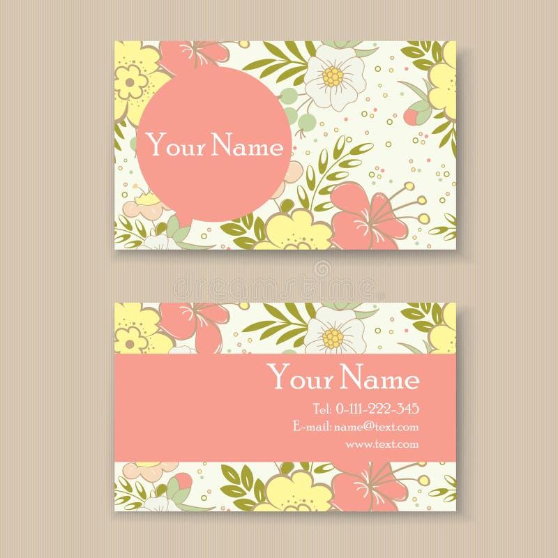 Blom- affär eller visitkort vektor illustrationer