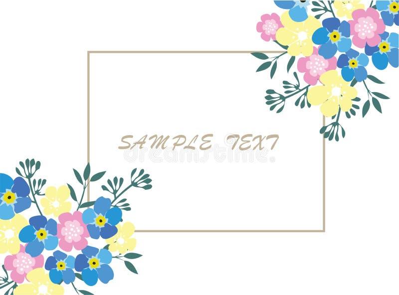 Blom- affärskort vektor illustrationer