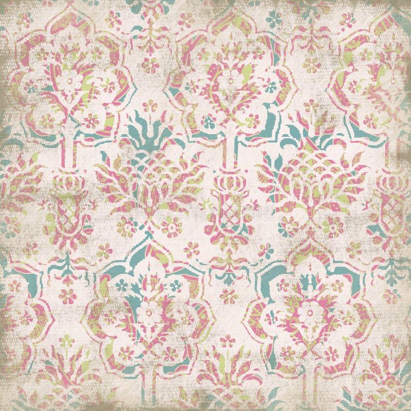 blom- antik bakgrund stock illustrationer